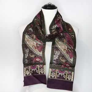 Talbots Silk Long Art Deco Scarf